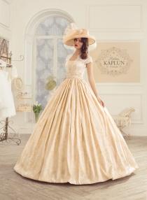 Желтые золотые свадебные платья