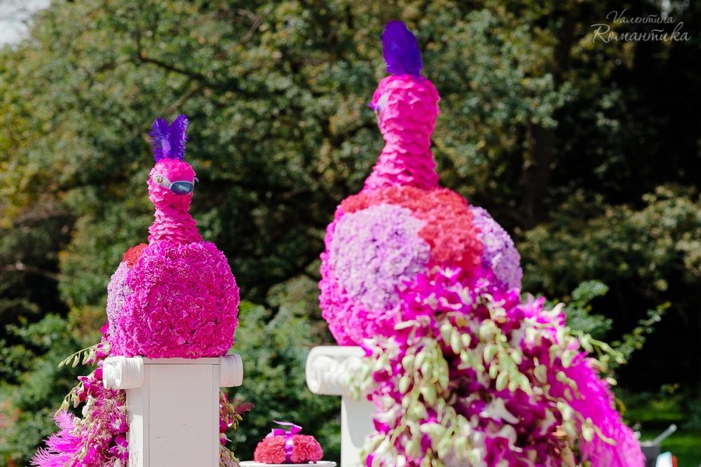 Изысканное оформление от флориста Валентины Романтика