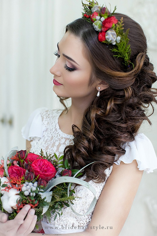 Прическа невесты, студия свадебных стилистов